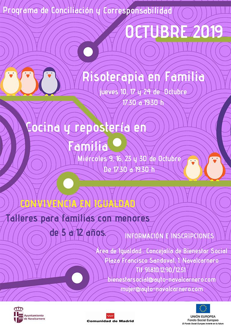 MES DE OCTUBRE TALLERES EN FAMILIA