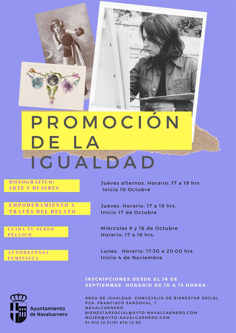 MES DE OCTUBRE Y NOVIEMBRE TALLERES DE PROMOCIÓN DE LA IGUALDAD