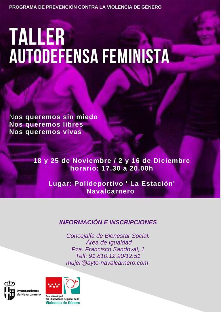 TALLER DE AUTODEFENSA FEMINISTA - 18 Y 25 NOVIEMBRE / 2 Y 16 DICIEMBRE DE 2019