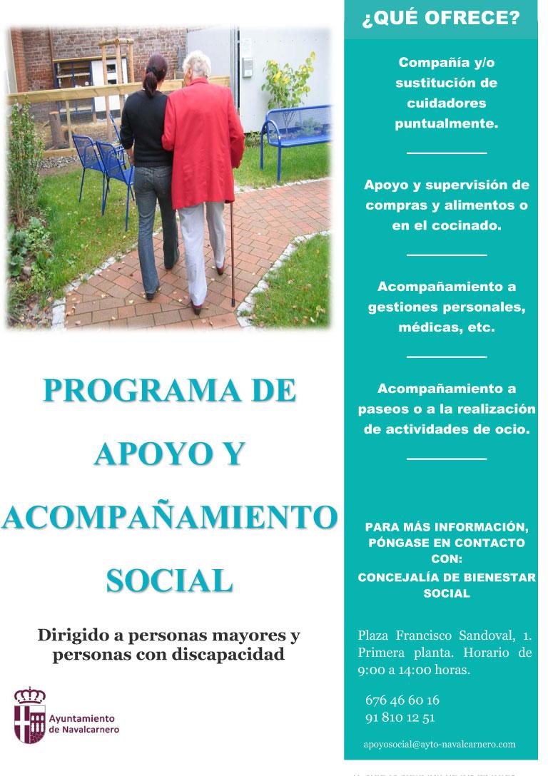 CARTEL PROGRAMA DE APOYO Y ACOMPAÑAMIENTO SOCIAL EN NAVALCARNERO