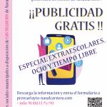 camapaña publicidad gratis extraescolares