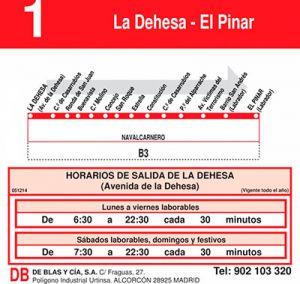 LINEA 1 - LA DEHESA - EL PINAR NAVALCARNERO